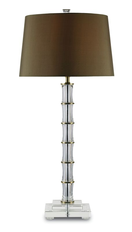 Currey and Company 6558 Yardley 1 Light Table Lamp Brass / Clear
