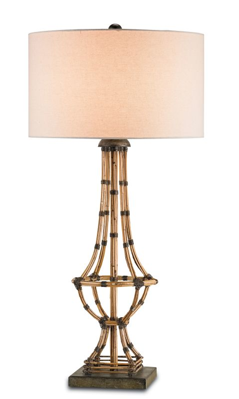 Currey and Company 6609 Palm Beach 1 Light Table Lamp Pyrite Bronze /