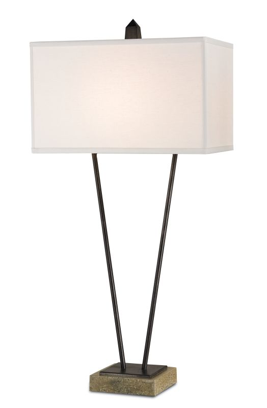 Currey and Company 6616 M�©tier 1 Light Table Lamp Aged Steel /