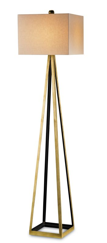Currey and Company 8049 Bel Mondo 1 Light Floor Lamp Contemporary Gold