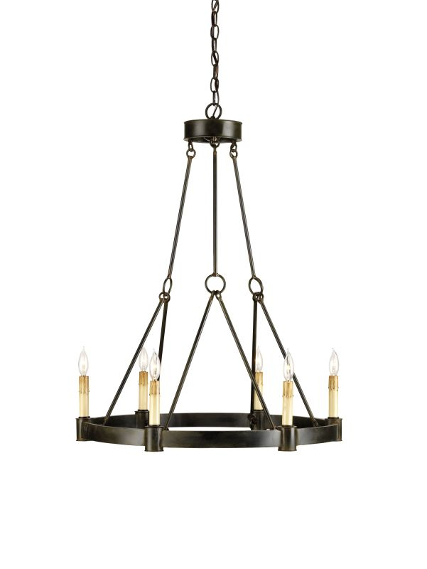 """Currey and Company 9022 Chantelaine 33""""H 6 Light Chandelier with"""