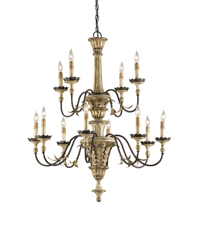"Currey and Company 9040 Adara 39""H 12 Light Chandelier with Optional"