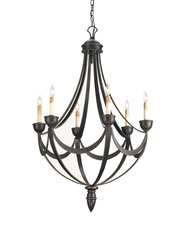 "Currey and Company 9042 Palomino 43""H 6 Light Chandelier with Optional"