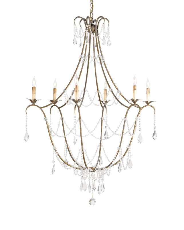 "Currey and Company 9048 Elizabeth 50""H 6 Light Chandelier with"