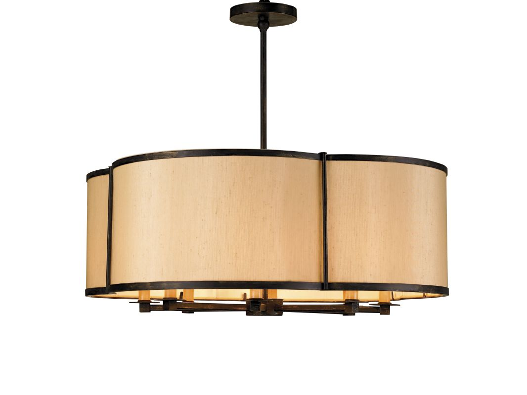 "Currey and Company 9050 Linley 26""H 8 Light Pendant from the Lillian"