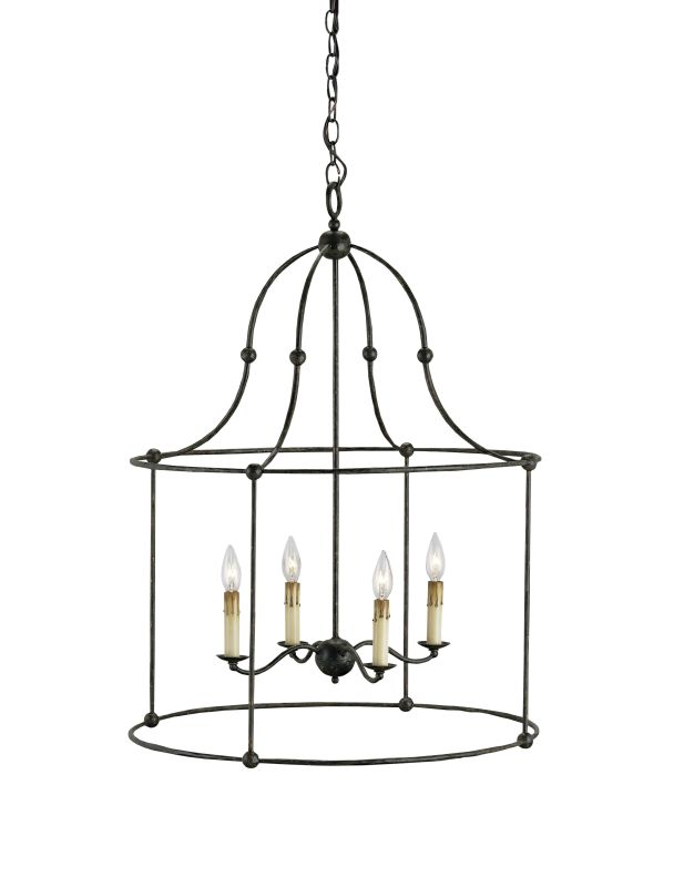 "Currey and Company 9160 Fitzjames 33""H 4 Light Lantern Mayfair Indoor"