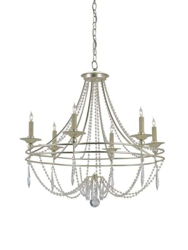 "Currey and Company 9161 Watteau 28""H 6 Light Chandelier with Optional"