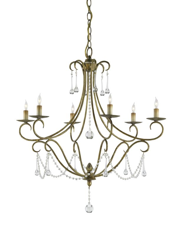 "Currey and Company 9192 Agostina 30""H 6 Light Chandelier with Optional"