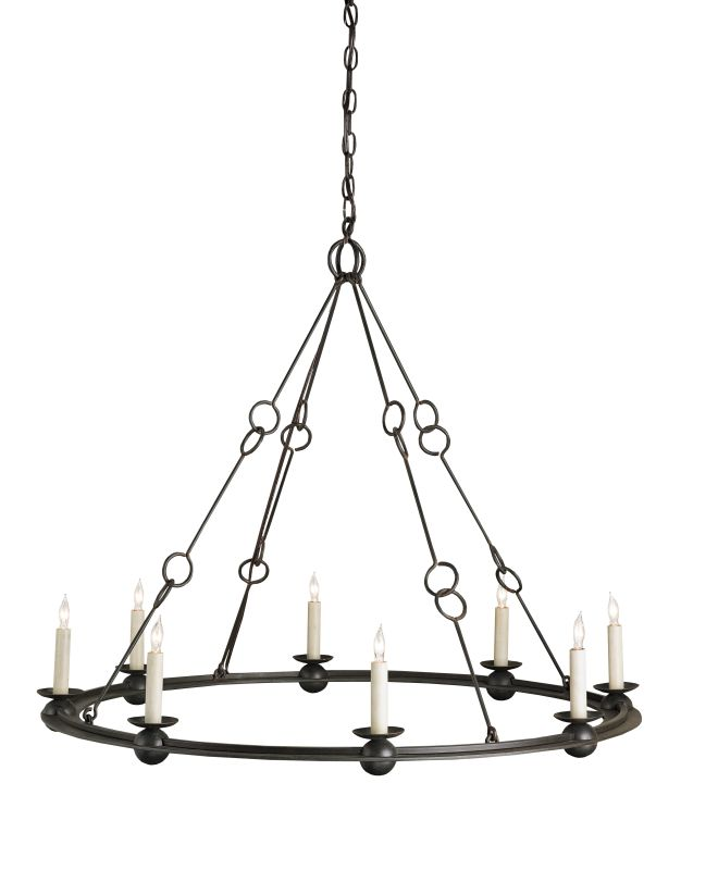 Currey and Company 9366 Rooney 8 Light Chandelier Old Iron Indoor Sale $1370.00 ITEM#: 2131486 MODEL# :9366 :
