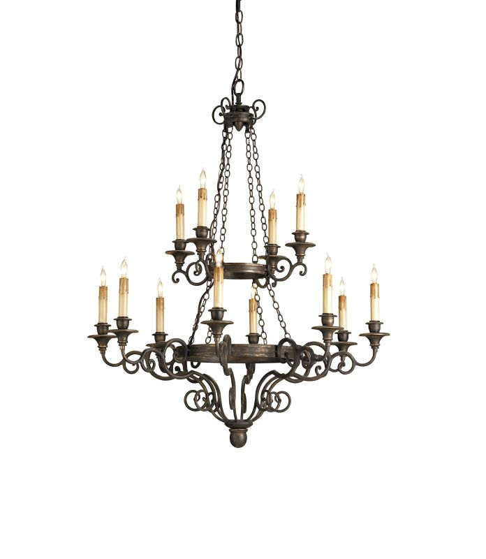"Currey and Company 9682 Galleon 40""H 12 Light Chandelier with Optional"