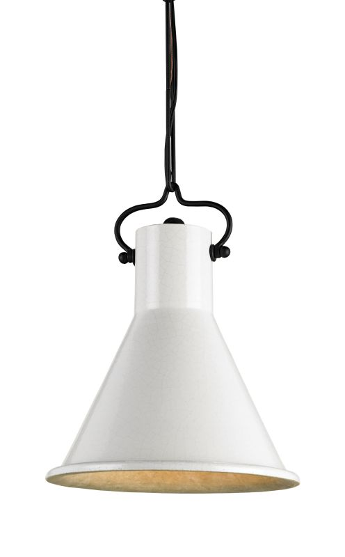 Currey and Company 9787 Rooke 1 Light Pendant with White Terracotta