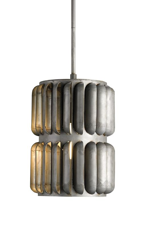 Currey and Company 9861 Turbina 1 Light Pendant with Industrial