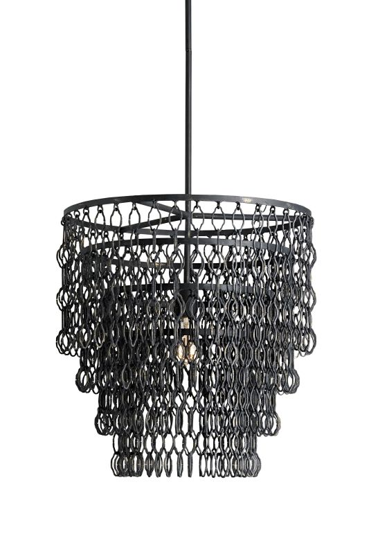 Currey and Company 9863 Fenwick 1 Light Pendant with Tiered Chain-Link