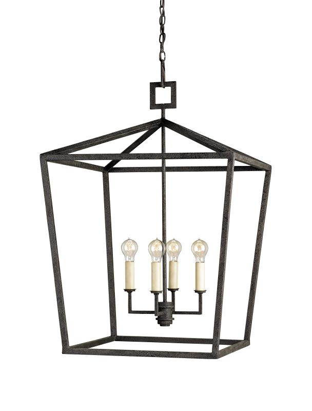 Currey and Company 9871 Denison 5 Light Chandelier In Lantern Style