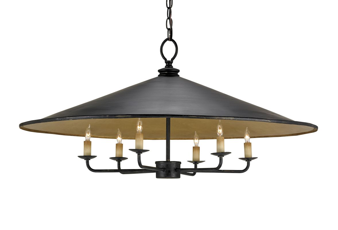Currey and Company 9873 Brussels 6 Light Chandelier with Large Wrought