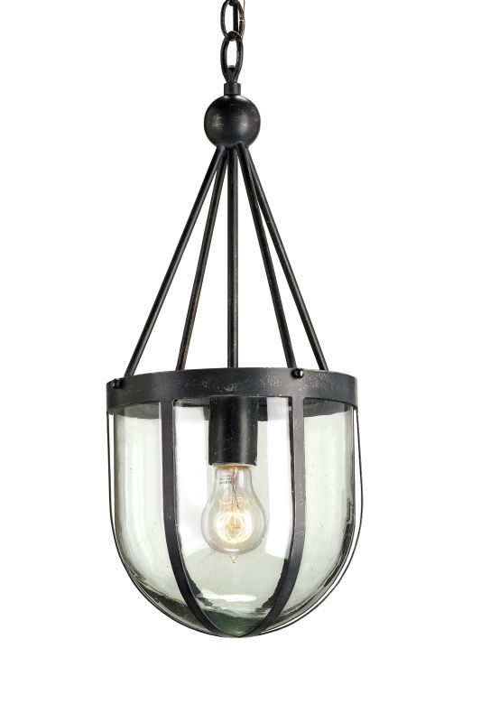 Currey and Company 9910 Clifton 1 Light Pendant with Wrought Iron