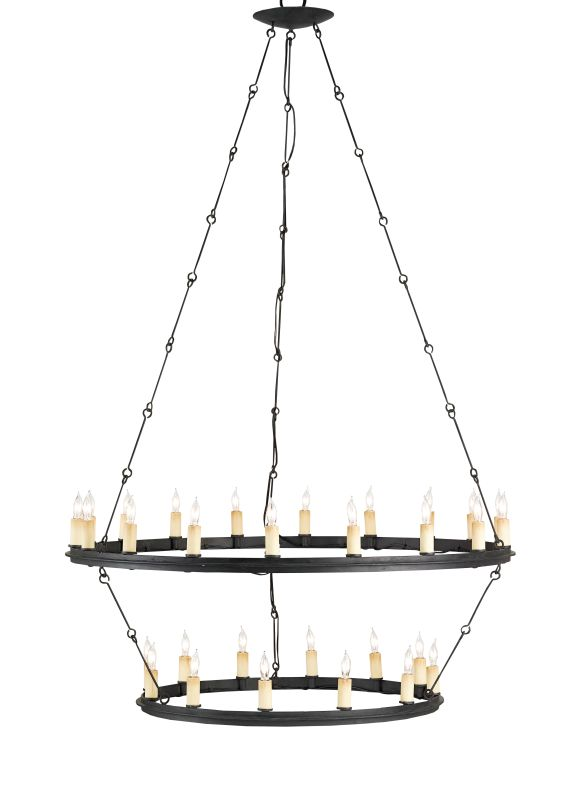 Currey and Company 9935 Toulouse 30 Light Chandelier Blacksmith Indoor