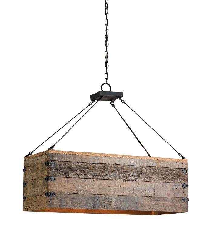 Currey and Company 9994 Billycart 3 Light Chandelier Blacksmith /