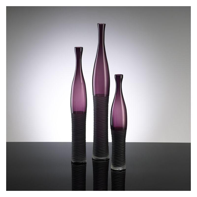 "Cyan Design 00881 23.5"" Large Amethyst Bottle Vase Amethyst Home Decor"