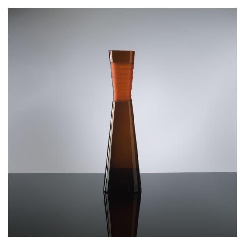 "Cyan Design 00953 18.5"" Large Orange Chiseled Neck Vase Orange Home"
