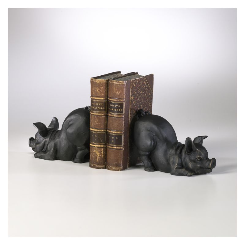 "Cyan Design 01218 4.5"" Piggy Bookends Old World Home Decor Bookends"