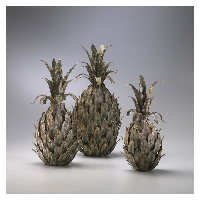 "Cyan Design 01254 13.5"" Variegated Pineapples Multi-Color Home Decor"