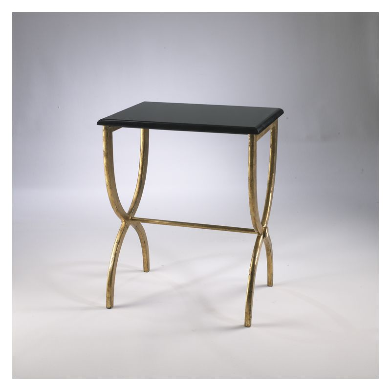 "Cyan Design 01319 25"" Black With Gold Legs Accent Table Antique Gold"