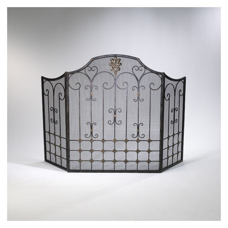 "Cyan Design 01349 32.25"" Bronze Fire Screen Bronze with Gold Accents"