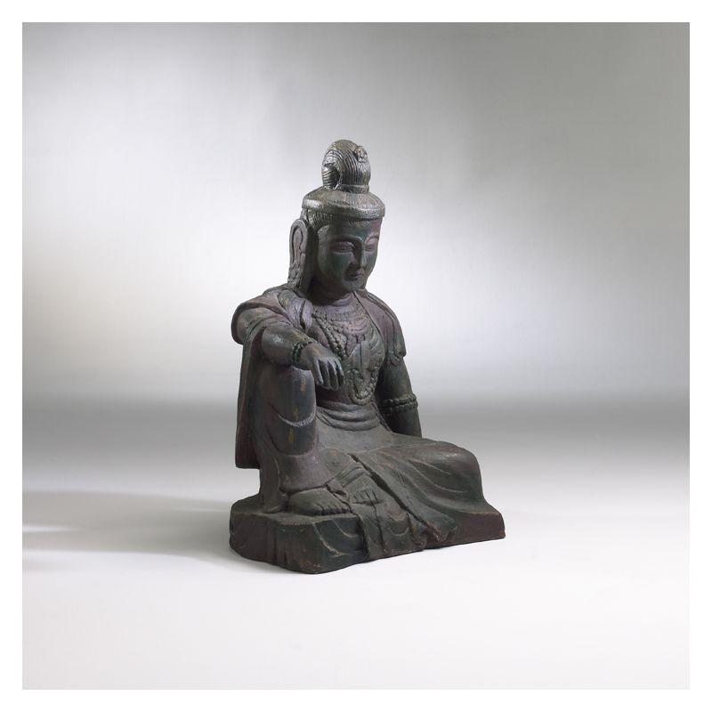 """Cyan Design 01353 24"""" Oriental Statue Moss Green Home Decor Statues &"""