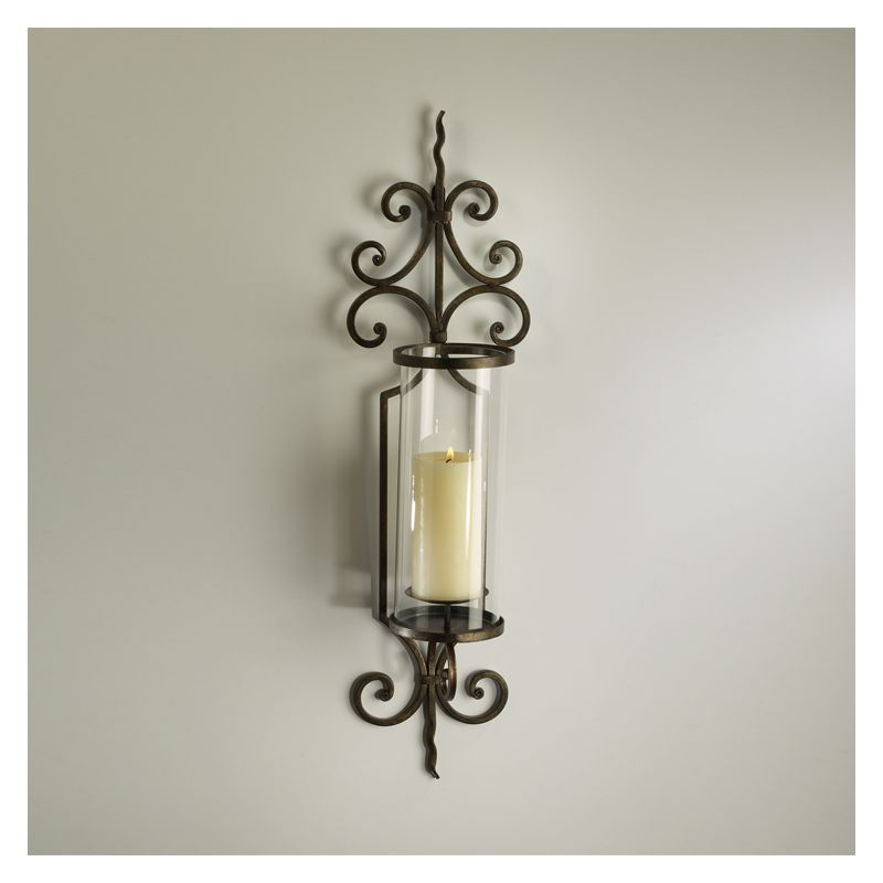 "Cyan Design 01594 30"" Pavillion Wall Candleholder Rust Home Decor"