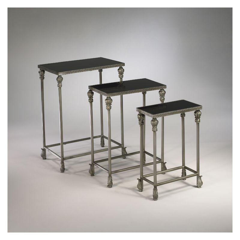 "Cyan Design 01597 24.25"" Livingston Nesting Tables Antique Silver"