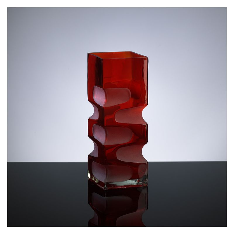 """Cyan Design 01823 11.5"""" Small Ruby Etched Vase Red Home Decor Vases"""