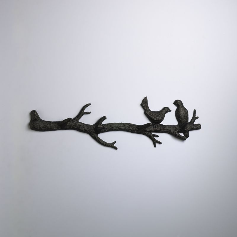 "Cyan Design 01868 9.5"" Bird Branch Coat Hook Canyon Bronze Home Decor"
