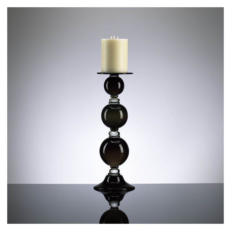 "Cyan Design 02180 21"" Medium Black Globe Candleholder Black and Clear"