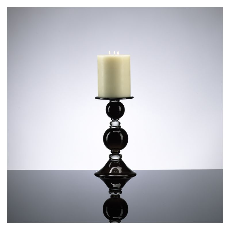 "Cyan Design 02181 11.5"" Small Black Globe Candleholder Black and Clear"