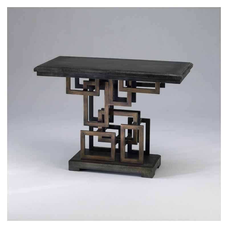 """Cyan Design 02318 29.5"""" Optic Table Rustic Gold Furniture End Tables"""