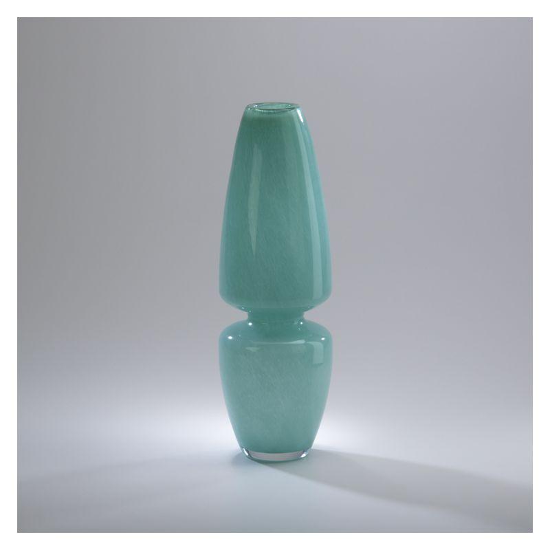 "Cyan Design 02381 15"" Turquoise Slender Vase Turquoise Home Decor"
