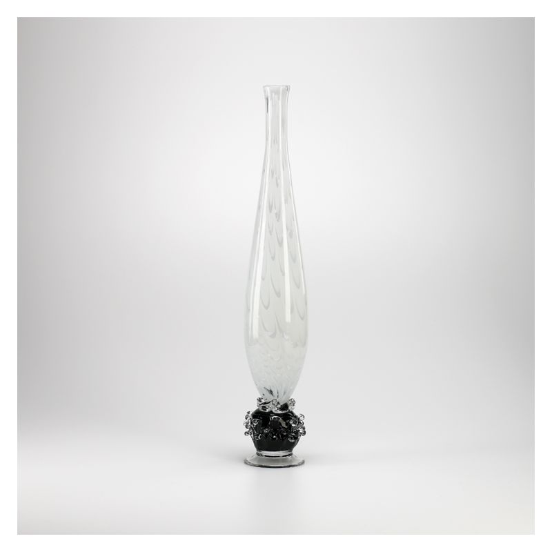 """Cyan Design 02407 27.5"""" Large Matias Swirl Vase Clear and Frosted Home"""