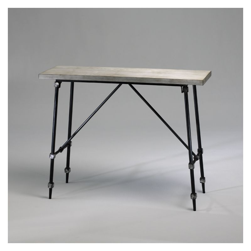 "Cyan Design 02445 30.25"" Doris Console Table Ivory and Black Furniture"