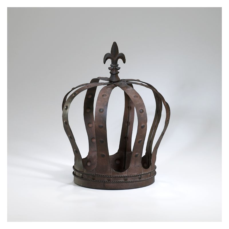 "Cyan Design 02787 13"" Royal Crown Aged Rust Home Decor Statues &"