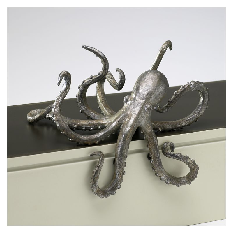"Cyan Design 02827 3.75"" Octopus Shelf Decor Pewter Home Decor Statues"