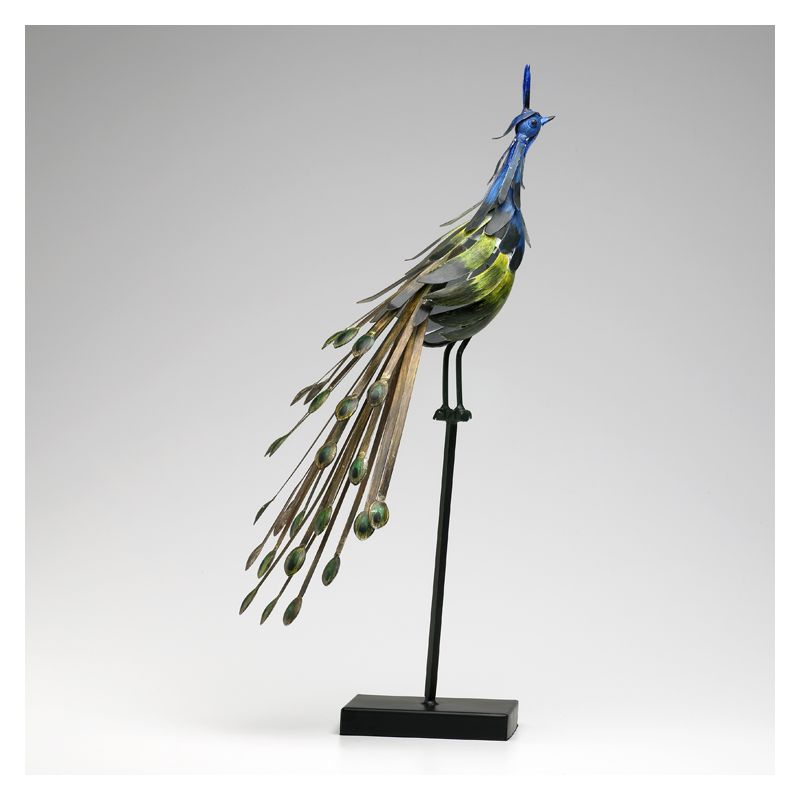 "Cyan Design 02832 26"" Peacock On Stand #1 Multi Colored Home Decor"