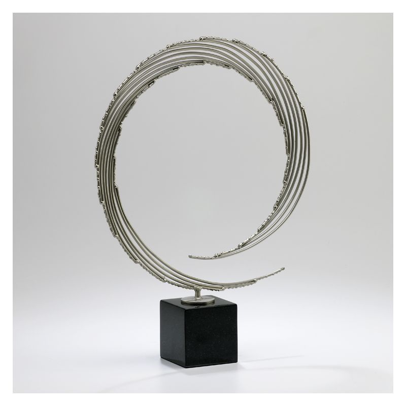 "Cyan Design 02839 19"" Centurian Circle Nickel and Black Home Decor"