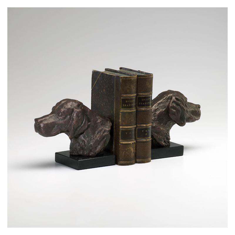 "Cyan Design 02847 5.25"" Hound Dog Bookends Bronze Home Decor Bookends"