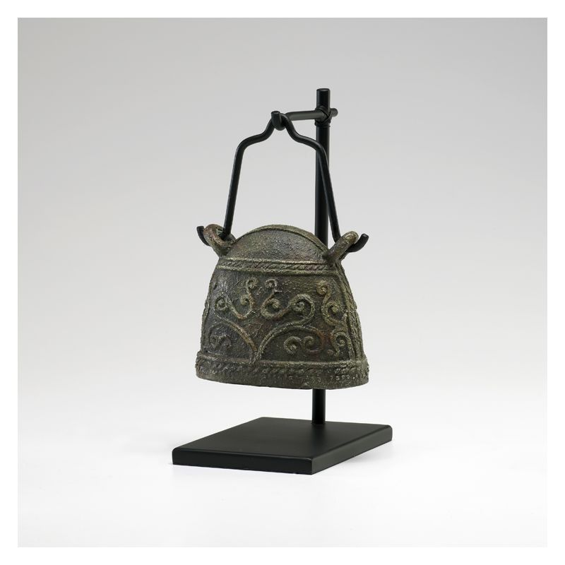 "Cyan Design 02858 9.25"" Antique Livestock Bell #1 Rust and Verde Home"