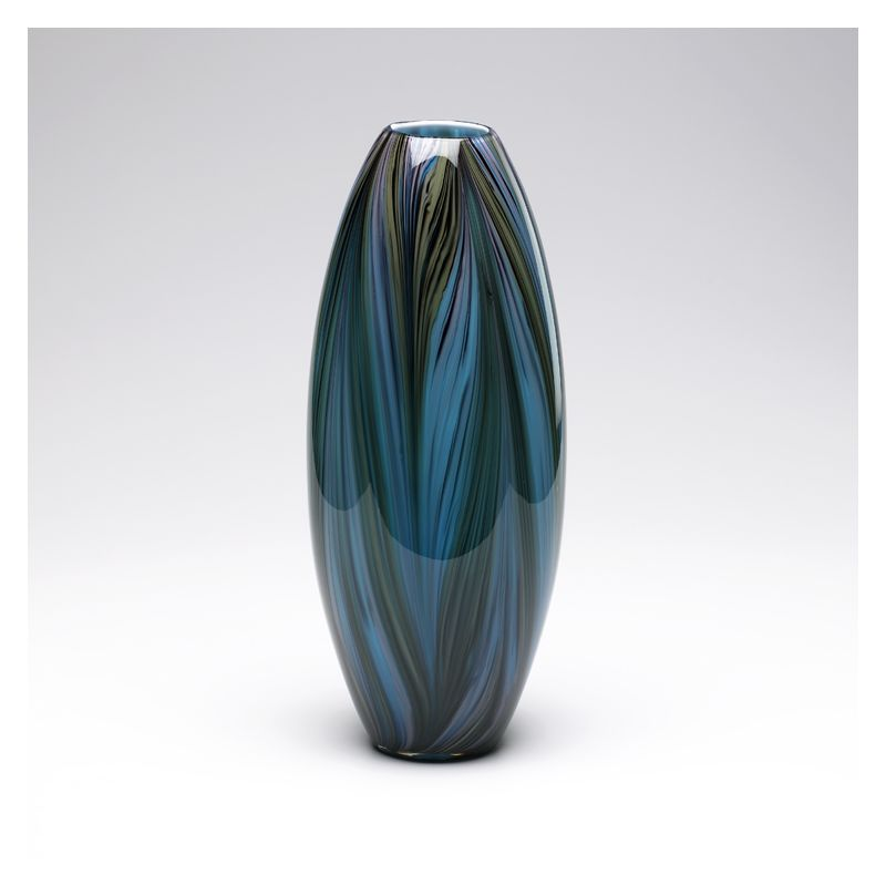 "Cyan Design 02920 20"" Peacock Feather Vase Multi Colored Blue Home"