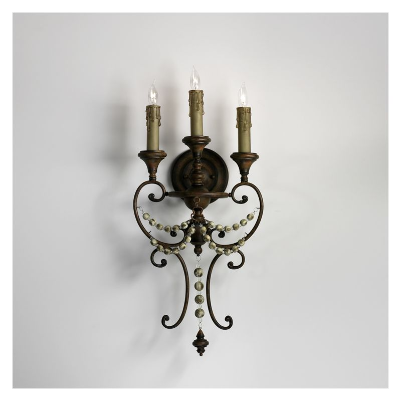 """Cyan Design 03009 26.25"""" Meriel Three Light Wall Sconce from the"""