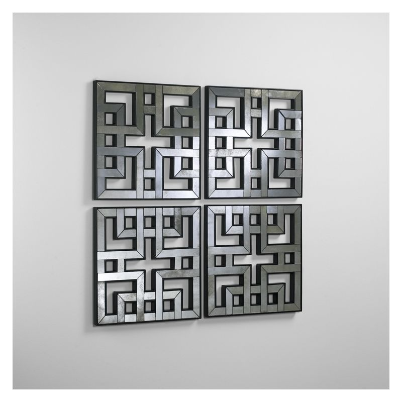 "Cyan Design 04004 35"" Akari Mirrored Panels Home Decor Wall Decor"
