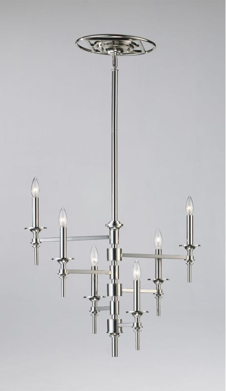 Cyan Design 04180 6 Light Up Lighting Chandelier from the Omega