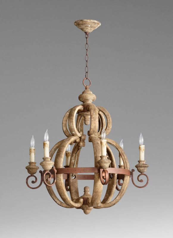 Cyan Design 05148 Atocha 6 Light Chandelier Sutherland Buff and Rust